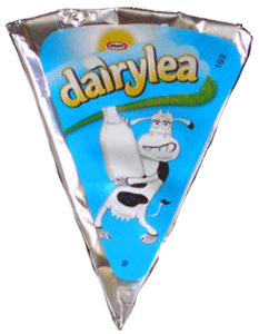 A dairylea cheese triangle