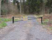 A forestry commission gateway in the Clocaenog forest, North Wales