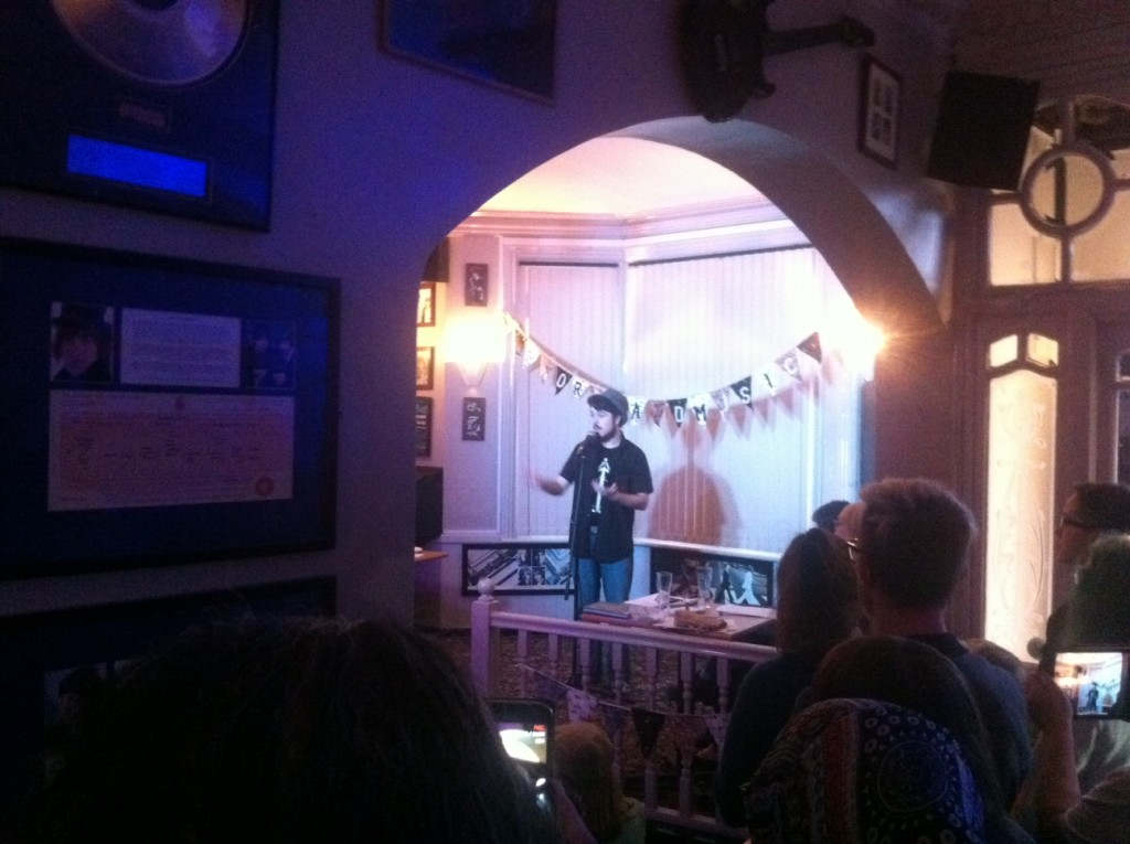 Calum Dwyer winner of Nantwich Poetry Slam